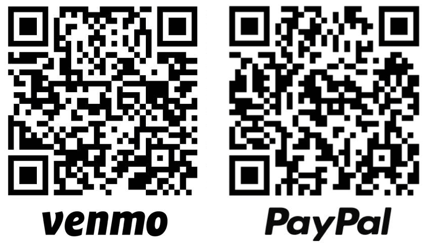 Venmo and PayPal.Me QR Code